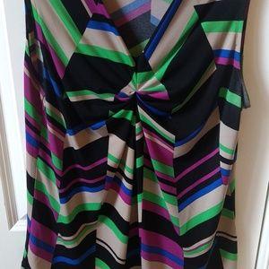 Multicolored Sleeveless shirt.
